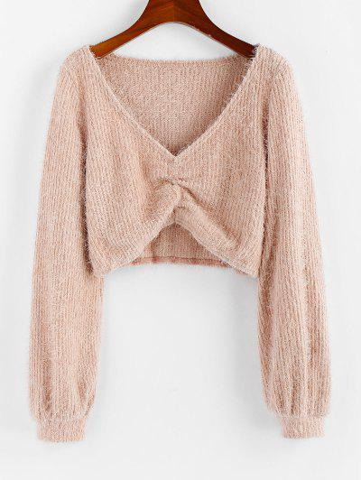 Puff Sleeve Fluffy Sweater - from $16.48