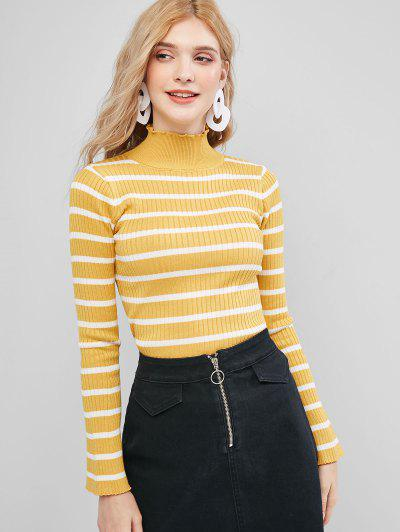 Stripes Flare Sleeve Slim Sweater - from $13.14
