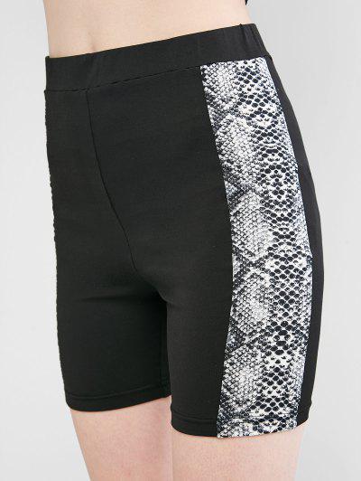 ZAFUL Shorts de Cintura Alta con Estampado de Piel de Serpiente
