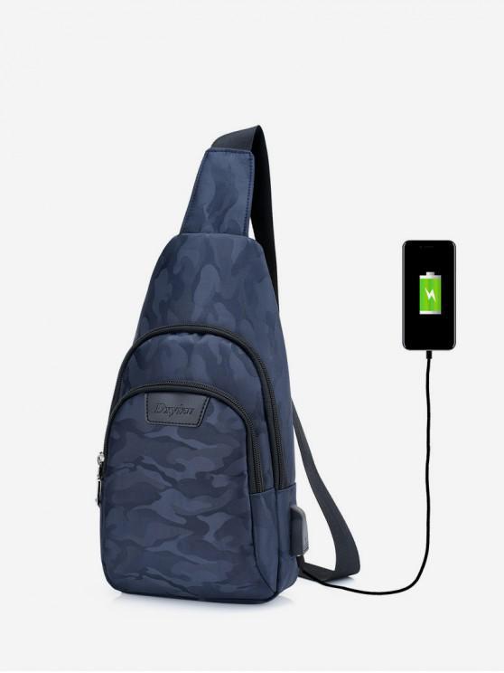 affordable Casual Camouflage Pockets Shoulder Bag - DARK SLATE BLUE