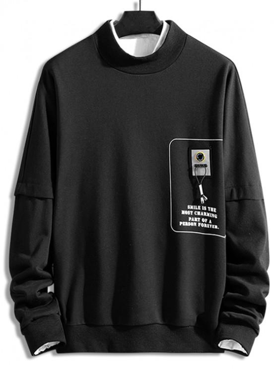 outfits Graphic Letter Printed Casual Sweatshirt - BLACK 2XL