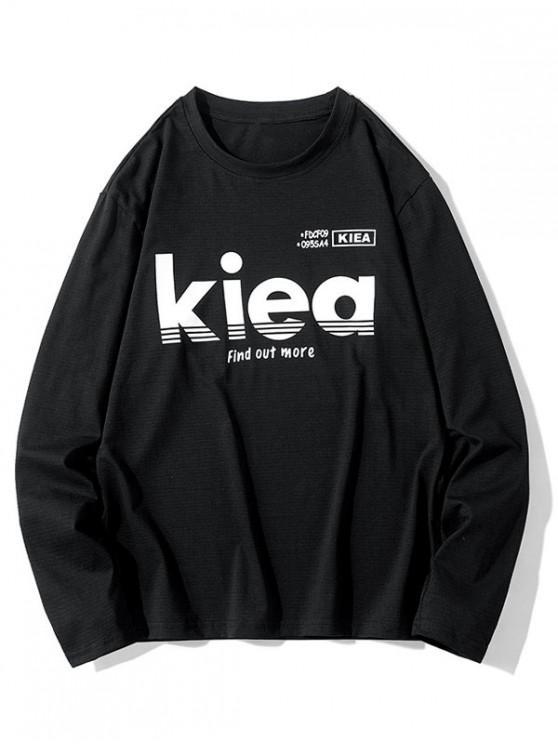 women Casual Letter Graphic Printed Sweatshirt - BLACK M