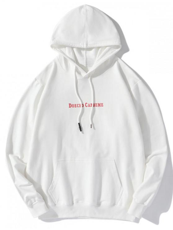 shops Letter Animal Character Graphic Print Drawstring Hoodie - WHITE 2XL