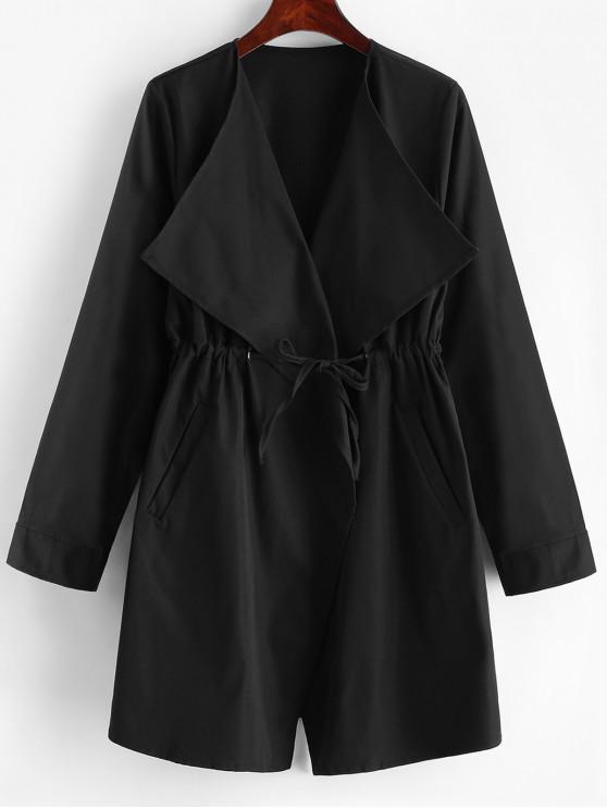ПортьераТалия со шнуровкой ПальтоТренч - Чёрный XL