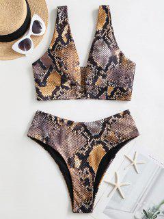 ZAFUL Bikini Badebekleidung Mit Schlangenmuster - Multi-a M