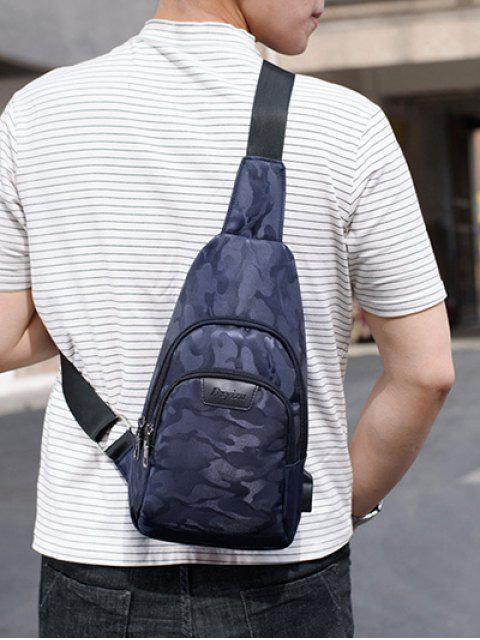 Bolso bolsillos de camuflaje casuales - Azul de Pizarra Oscuro  Mobile