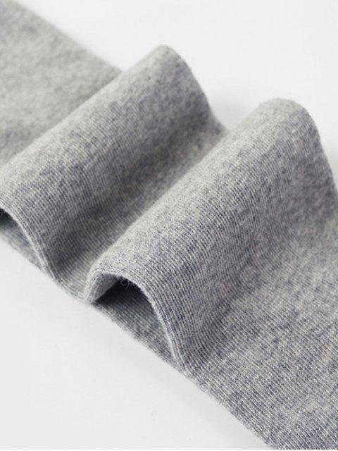 Chaussettes Géométriques Moulantes Jointives en Maille - Gris Clair  Mobile