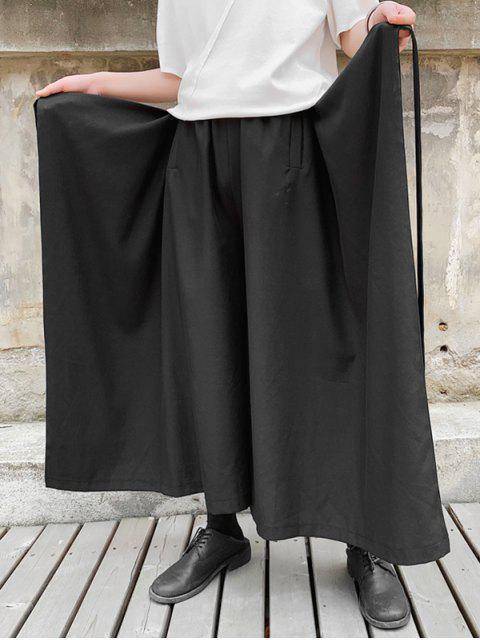 Japoneses pantalones estilo falda Palazzo - Negro L Mobile