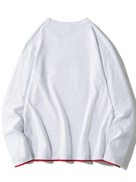 Contraste de impresión gráfica de vuelco con capucha - Blanco S Mobile