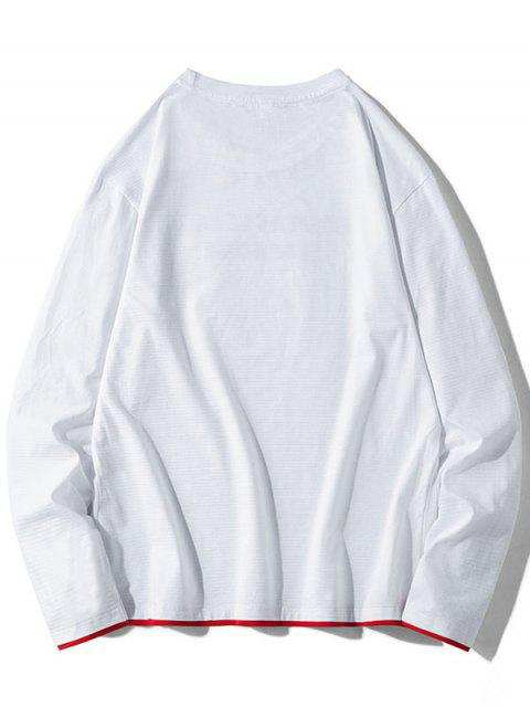 Contraste de impresión gráfica de vuelco con capucha - Blanco L Mobile