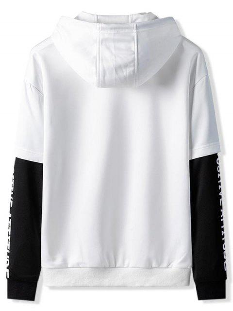 Bolsillo de canguro con capucha de empalme 2fer - Blanco XL Mobile