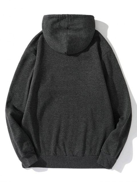 Sin lugar a dudas impresión de la letra Fleece con capucha con cordón - Gris Oscuro L Mobile