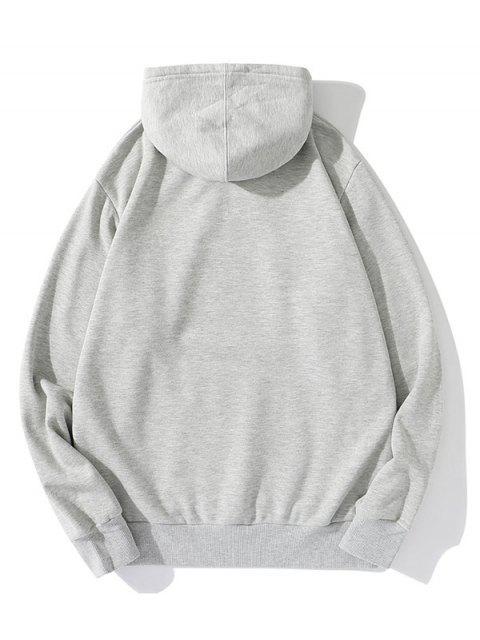 Carta Gráfica informal Fleece con capucha - Gris M Mobile