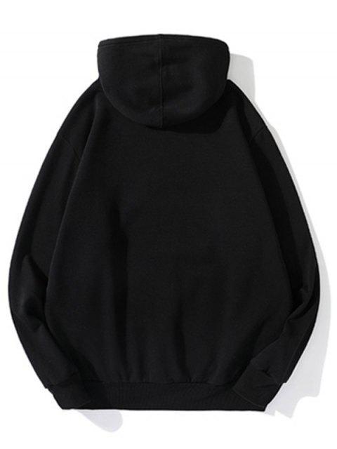 Carta Gráfica informal Fleece con capucha - Negro XL Mobile