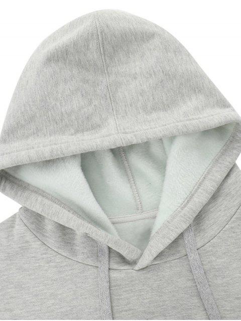 Carta Gráfica informal Fleece con capucha - Gris 2XL Mobile