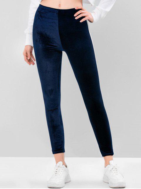 Gestreiftes Reversibeler Camisole Camisole Camisole Camisole Camisole mit Hohem Bund - Tiefes Blau 2XL Mobile