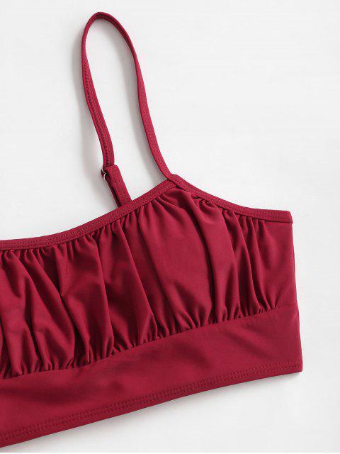 ZAFUL Bikini Top Acolchado Acanalado - Vino Tinto 2XL Mobile