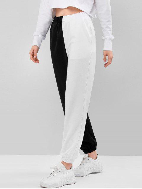 Pantalones Jogger de Dos Colores y Bolsillos - Multicolor-A M Mobile