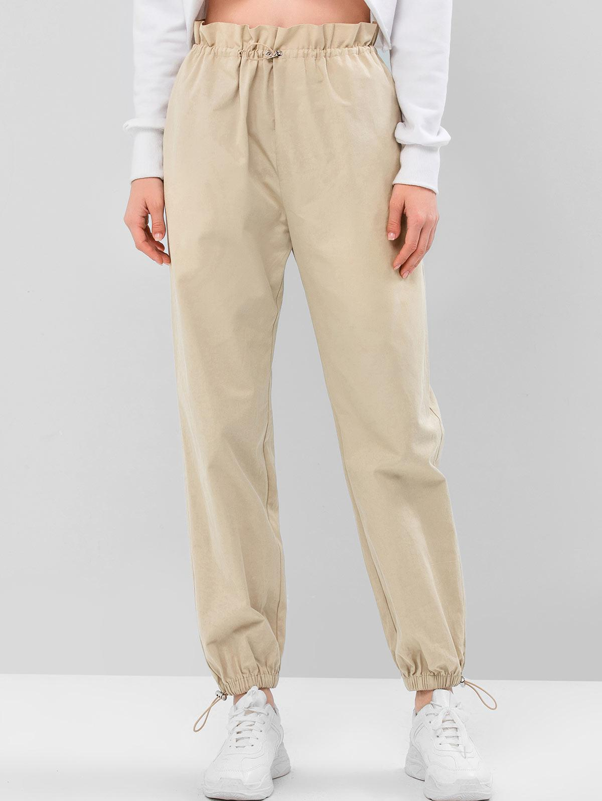 ZAFUL Solid Color Drawstring Jogger Pants