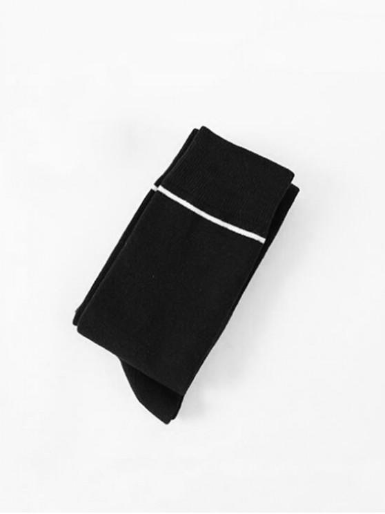 Chaussettes Longueur à Genou Rayées en Coton - Cadetblue