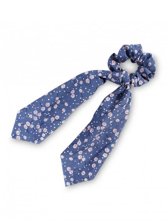 hot Dandelion Pattern Ribbon Intestine Ring Hair Band - BLUE GRAY