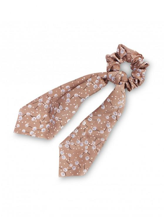 lady Dandelion Pattern Ribbon Intestine Ring Hair Band - KHAKI