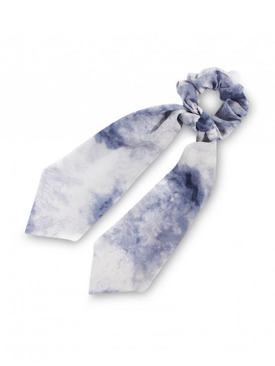 outfit Tie Dye Ribbon Intestine Ring Hair Band - BLUE
