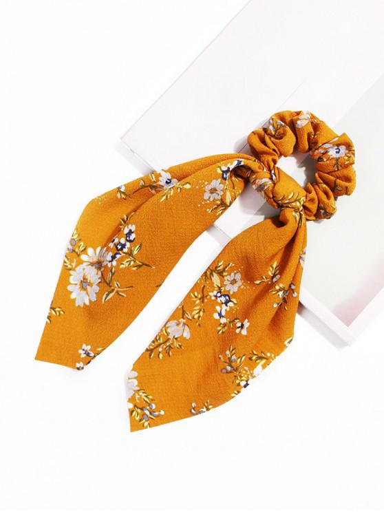 shops Daisy Ribbon Intestine Ring Hair Band - YELLOW