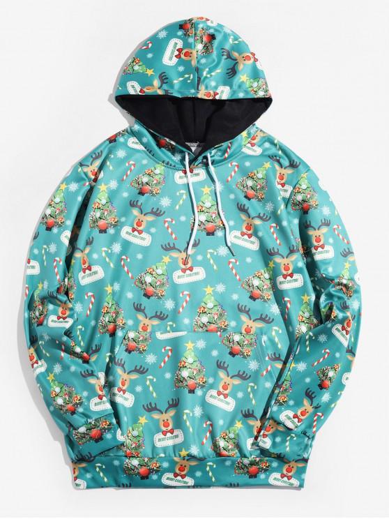 Árbol de Navidad con capucha Impreso Animal - Azul Verde Guacamayo  L