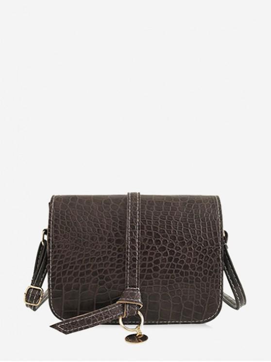 unique Belt Solid Skin Pattern Shoulder Bag - COFFEE