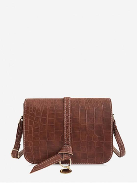 sale Belt Solid Skin Pattern Shoulder Bag - LIGHT BROWN