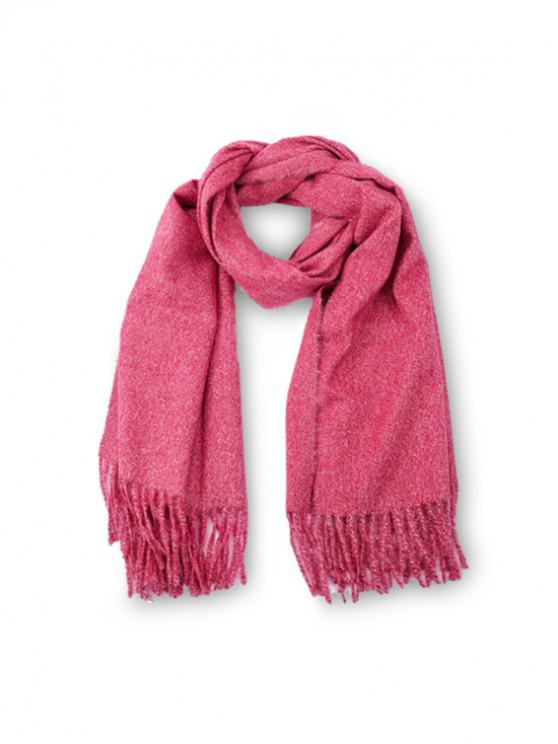 sale Fringed Faux Cashmere Long Scarf - NEON PINK REGULAR