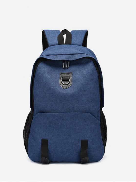 hot Solid Simple Waterproof Multifunction Backpack - LAPIS BLUE