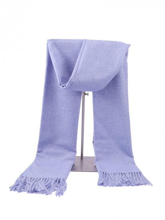 hot Fringed Faux Cashmere Long Scarf - CORNFLOWER BLUE REGULAR