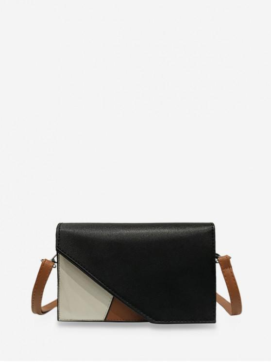 shops Cover Jointed Square Shoulder Bag - BLACK