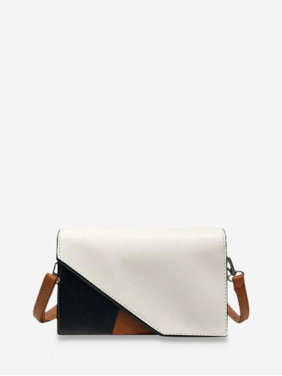 chic Cover Jointed Square Shoulder Bag - MILK WHITE