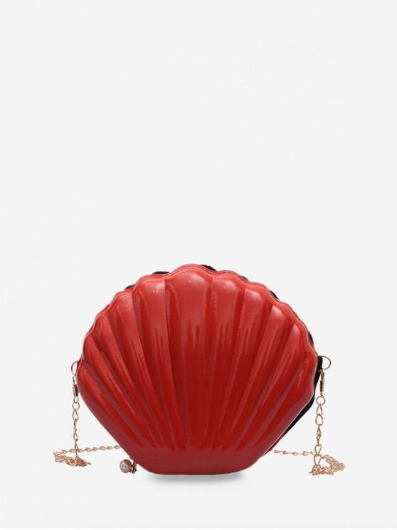 ห่วงโซ่มินิเชลล์รูปร่างกระเป๋าสะพาย - ลาวาสีแดง