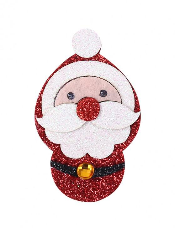 聖誕節聖誕老人閃光胸針 - 紅