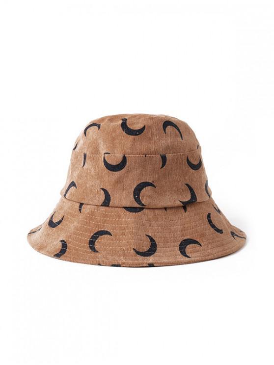 ริ้วดวงจันทร์พิมพ์ Bucket Hat - อูฐสีน้ำตาล