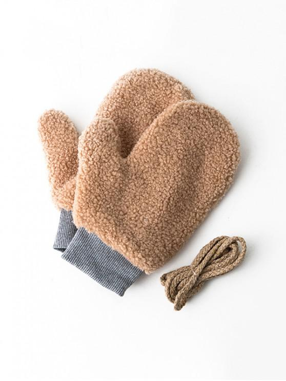 outfits Winter Fleece Solid Mitts - BROWN SUGAR