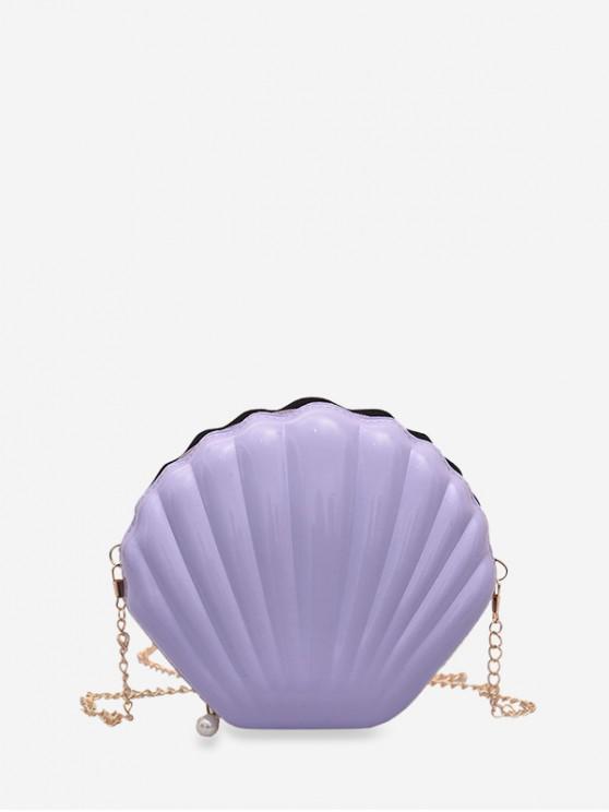 womens Chain Mini Shell Shape Shoulder Bag - MAUVE