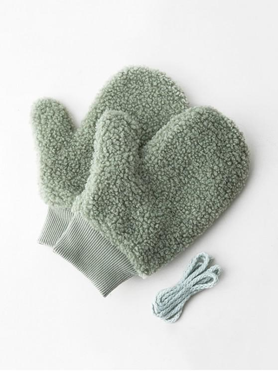 outfits Winter Fleece Solid Mitts - LIGHT GREEN
