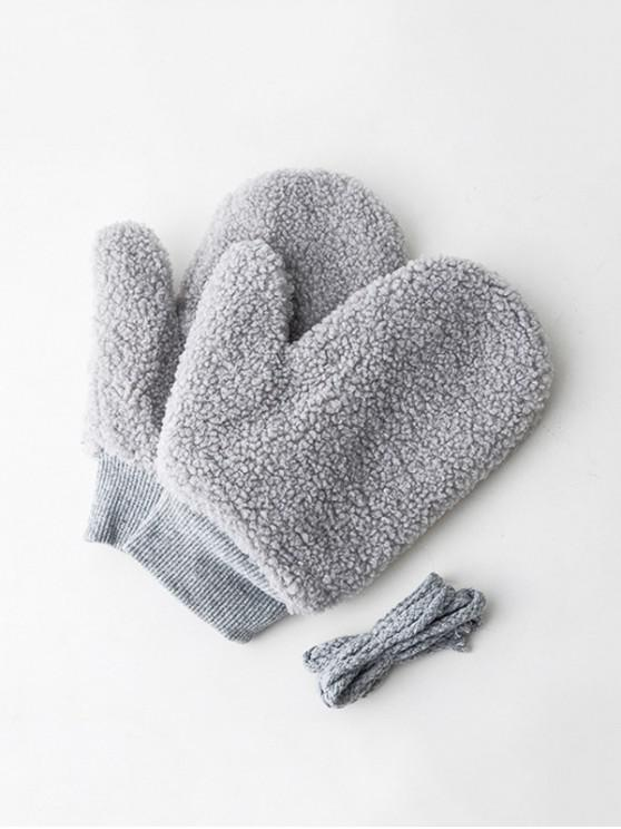 buy Winter Fleece Solid Mitts - DARK GRAY