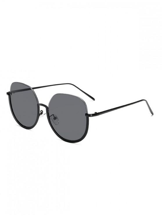 best Brief Metal Semi-rimless Sunglasses - BLACK