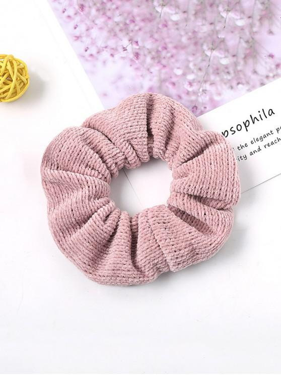 latest Solid Suede Intestine Ring Elastic Hair Band - PINK