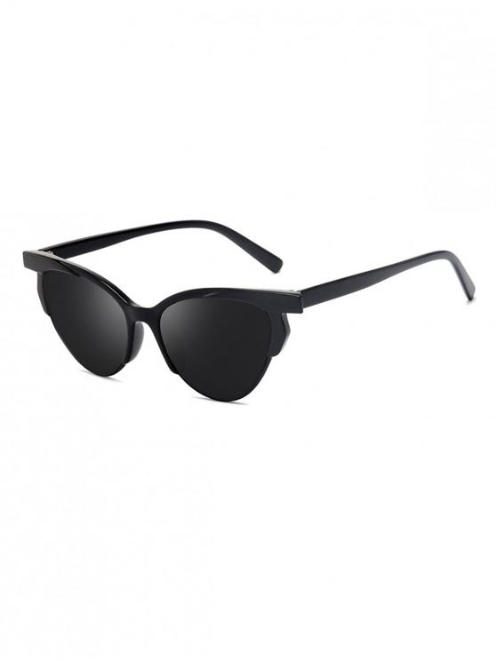 chic Anti UV Catty Eye Driving Sunglasses - BLACK