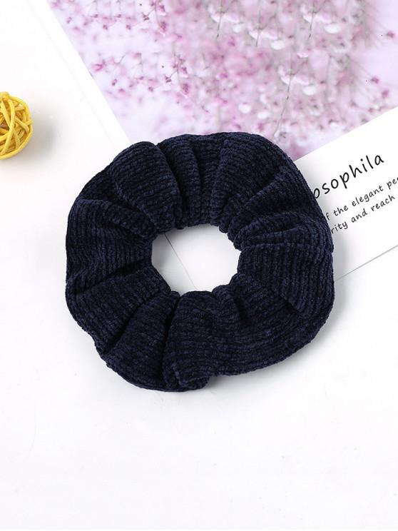 lady Solid Suede Intestine Ring Elastic Hair Band - CADETBLUE