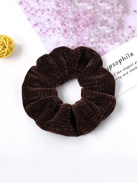 hot Solid Suede Intestine Ring Elastic Hair Band - COFFEE