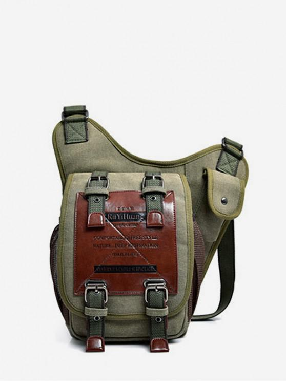 outfits Canvas Buckle Multi-function Bag - ARMY GREEN