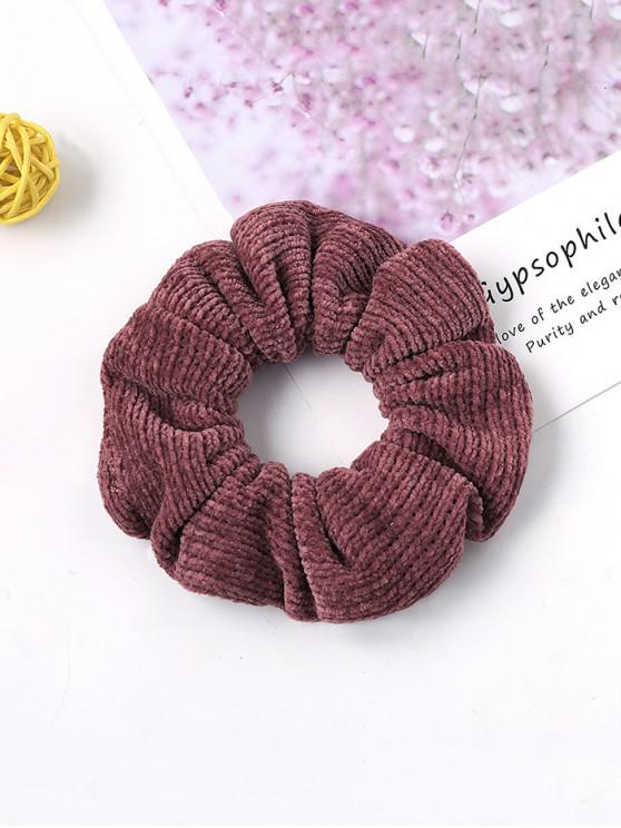 trendy Solid Suede Intestine Ring Elastic Hair Band - BEAN RED